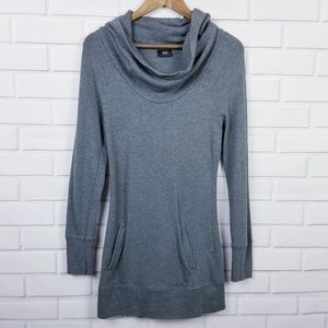 Mossimo Gray Long Sleeve Long Cowl Neck sweater XS